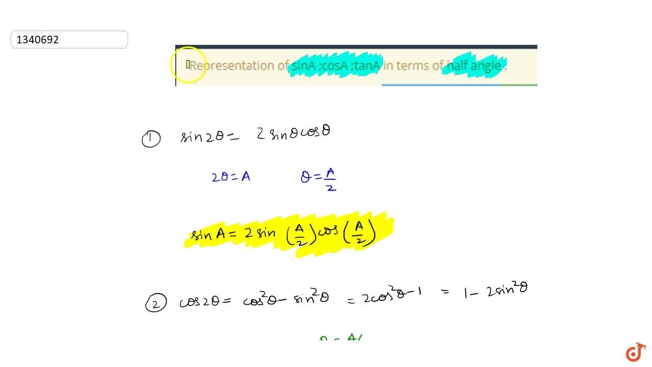 This Video will cover the following concepts - CONDITIONAL IDENTITIES, IMPORTANT INEQUALITIES, TRIGONOMETRIC RATIOS OF A IN TERMS OF THAT OF ANGLE A,2