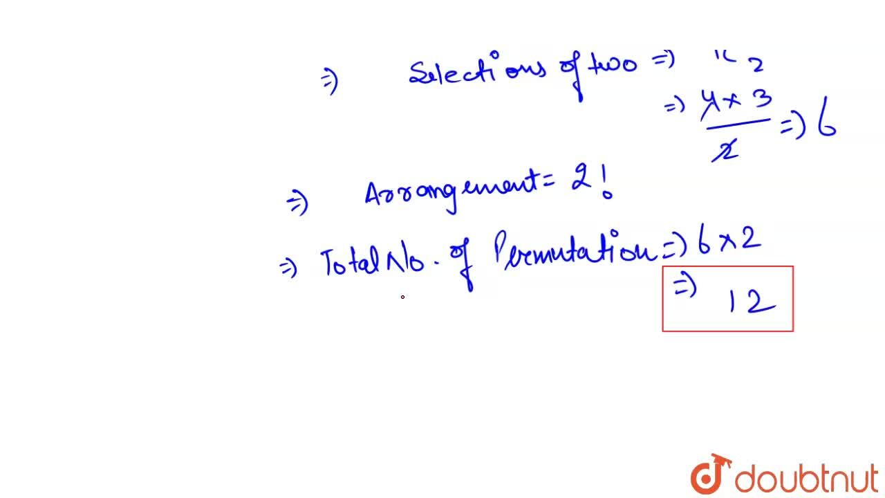 Solution for Number of all permutations of the set of four lett