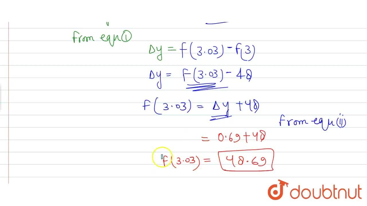 Find the approximate value of f(3.03) where f(x) = 3x^(2) + 5x + 6.
