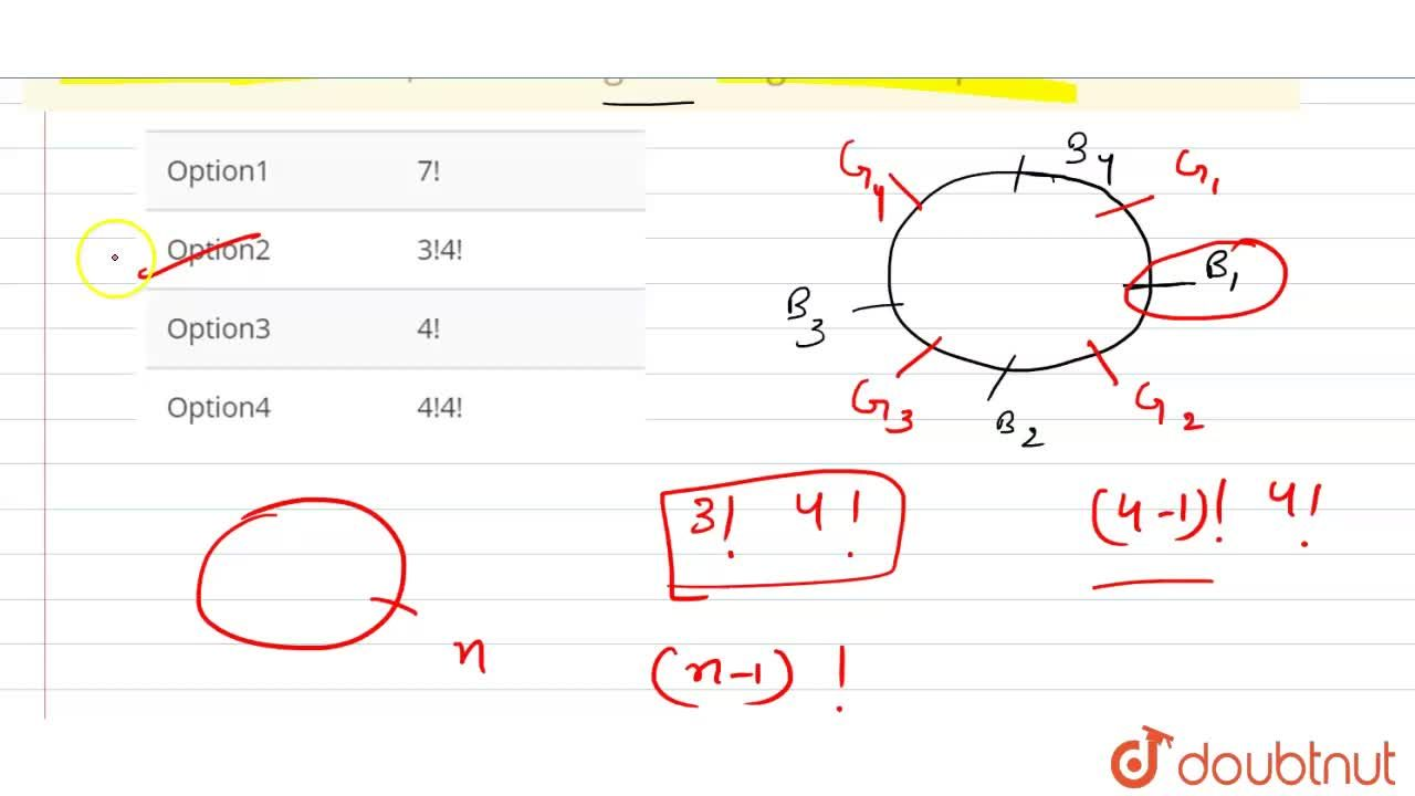 Solution for The total number of ways in which four boys and fo