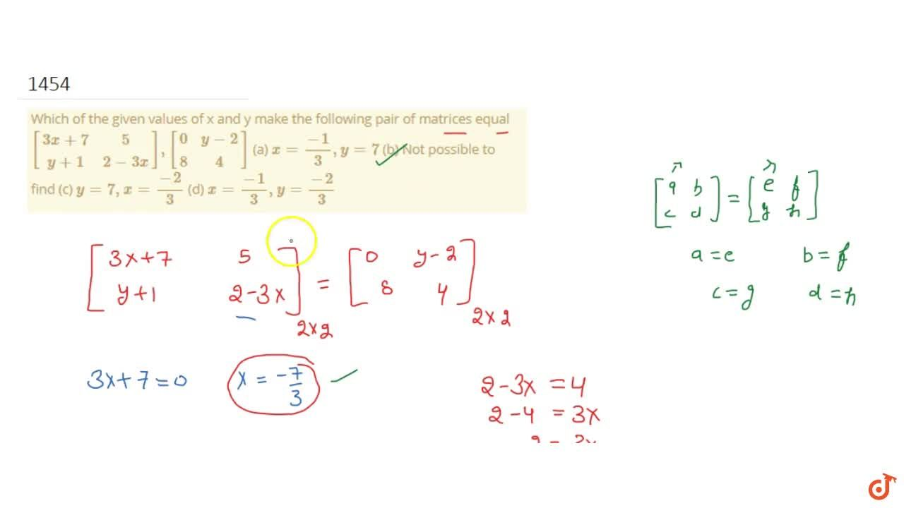 Solution for     Which of the given values of x and y make the