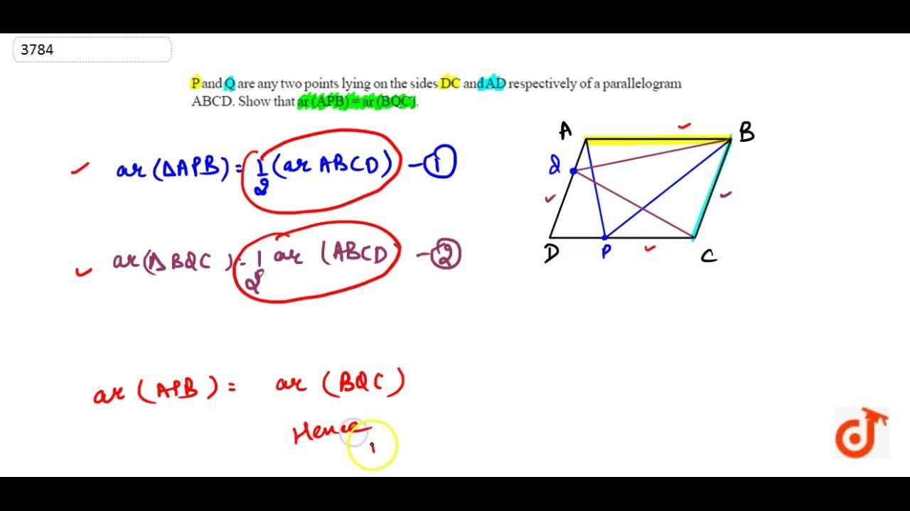 Solution for P and Q are  any two points lying on the sides DC