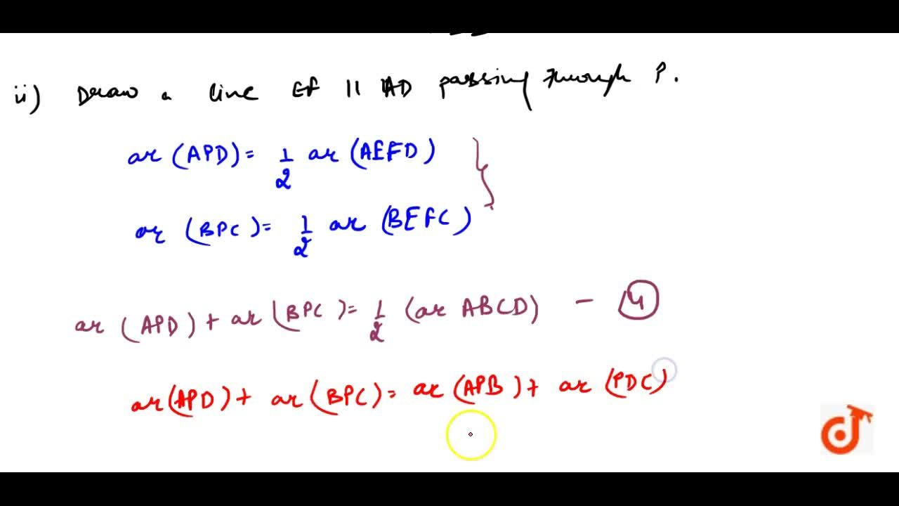 Solution for  In Fig. 9.16,  P is a point in the interior of a