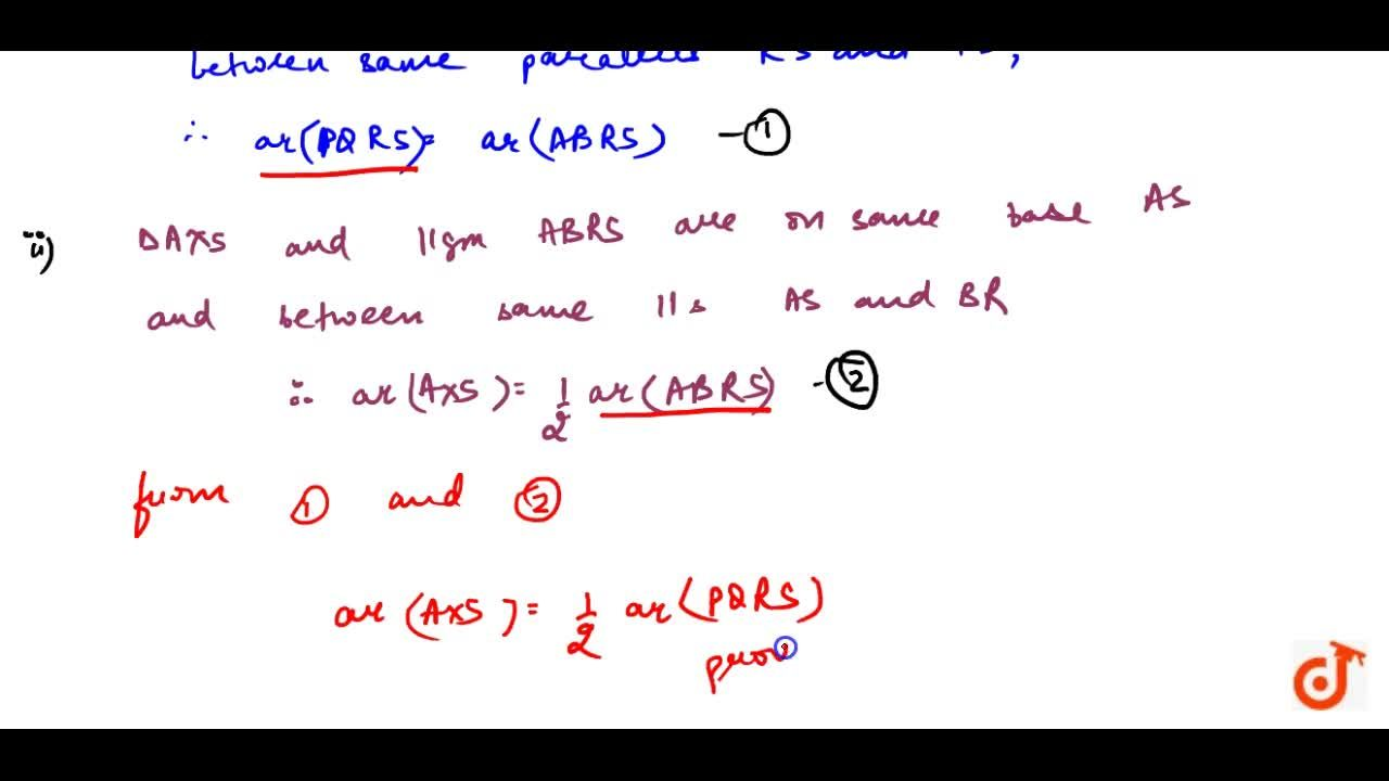 Solution for   In Fig. 9.17,  PQRS and ABRS are parallelograms