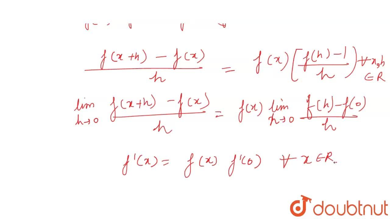 Solution for Let f:R to R be a function given by <br> f(x+y)