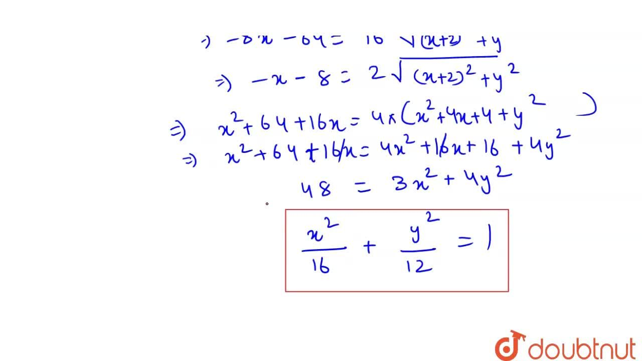 Solution for The equation of the set of all point the sum of wh