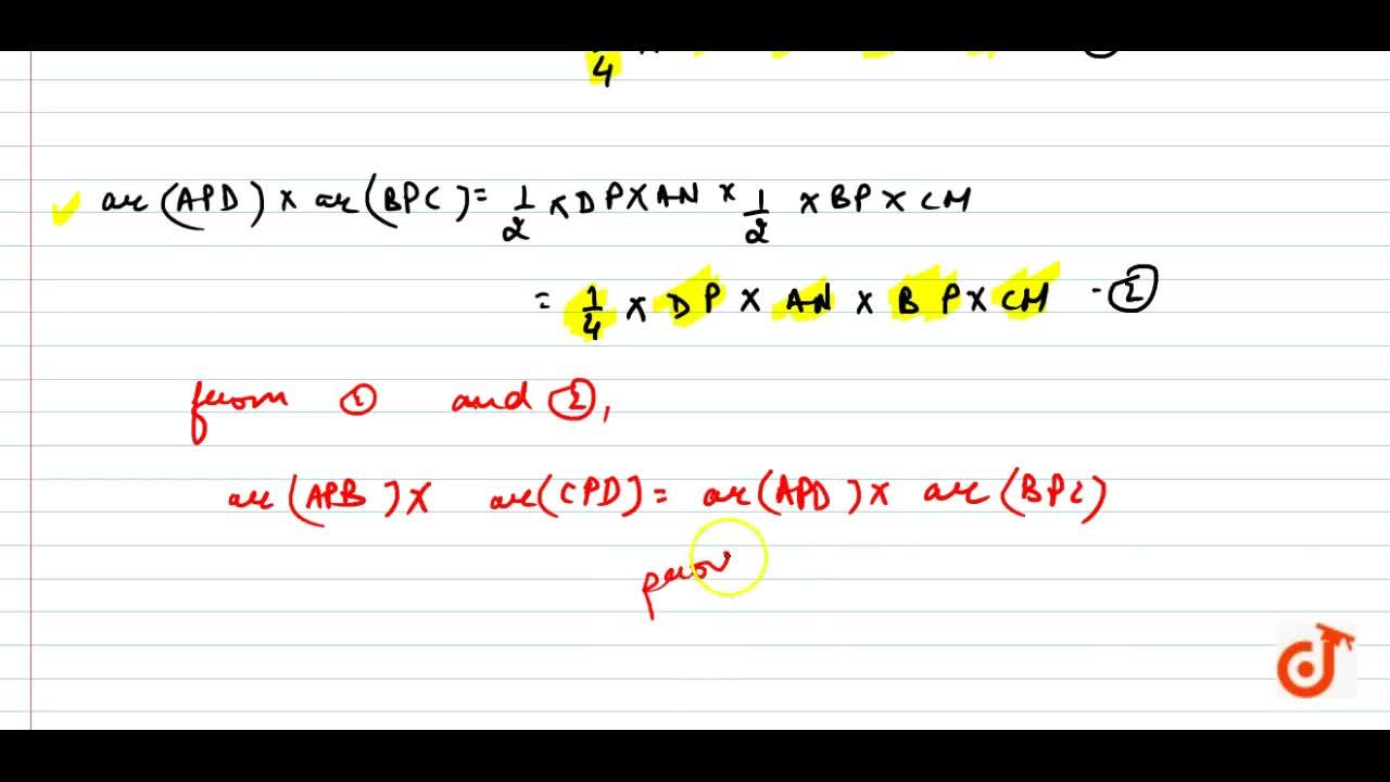 Solution for Diagonals AC  and BD of a quadrilateral ABCD inter
