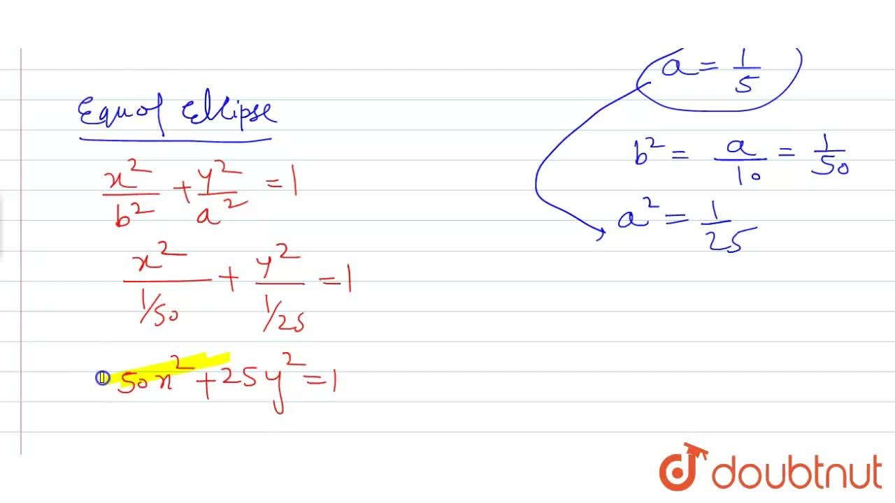 Solution for If the latus rectum of an ellipse with major axis