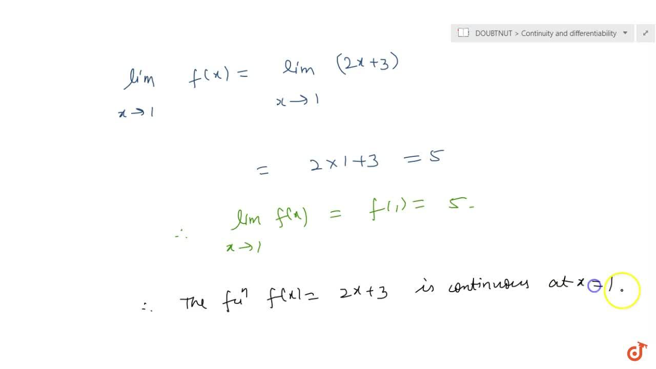 Solution for Check the continuity of the  function f given by