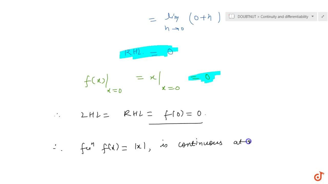 Solution for Discuss the continuity of the function f given by