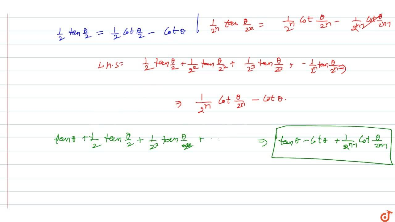 Find the sum n terms of seires tan theta+1,2tantheta,2+1,(2^2)tantheta,(2^2)+1,(2^3)tantheta,(2^3)+....