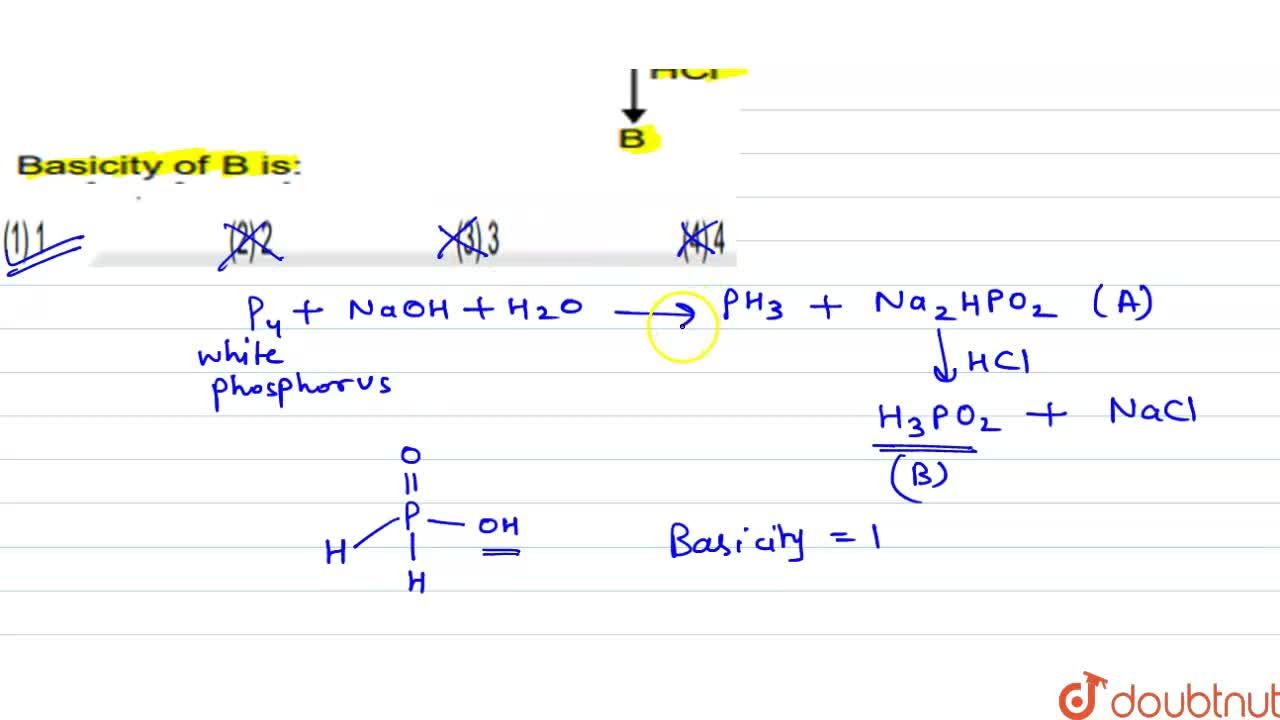 Solution for White phosphorus on reaction with concentrated NaO