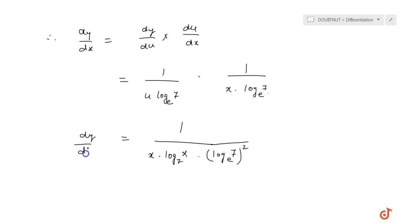 Differentiate (log)_7((log)_7x) with respect to x :