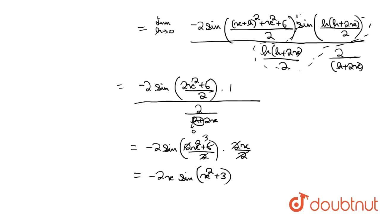 Find the derivative of cos (x^(2) + 3) using first principle of derivatives.