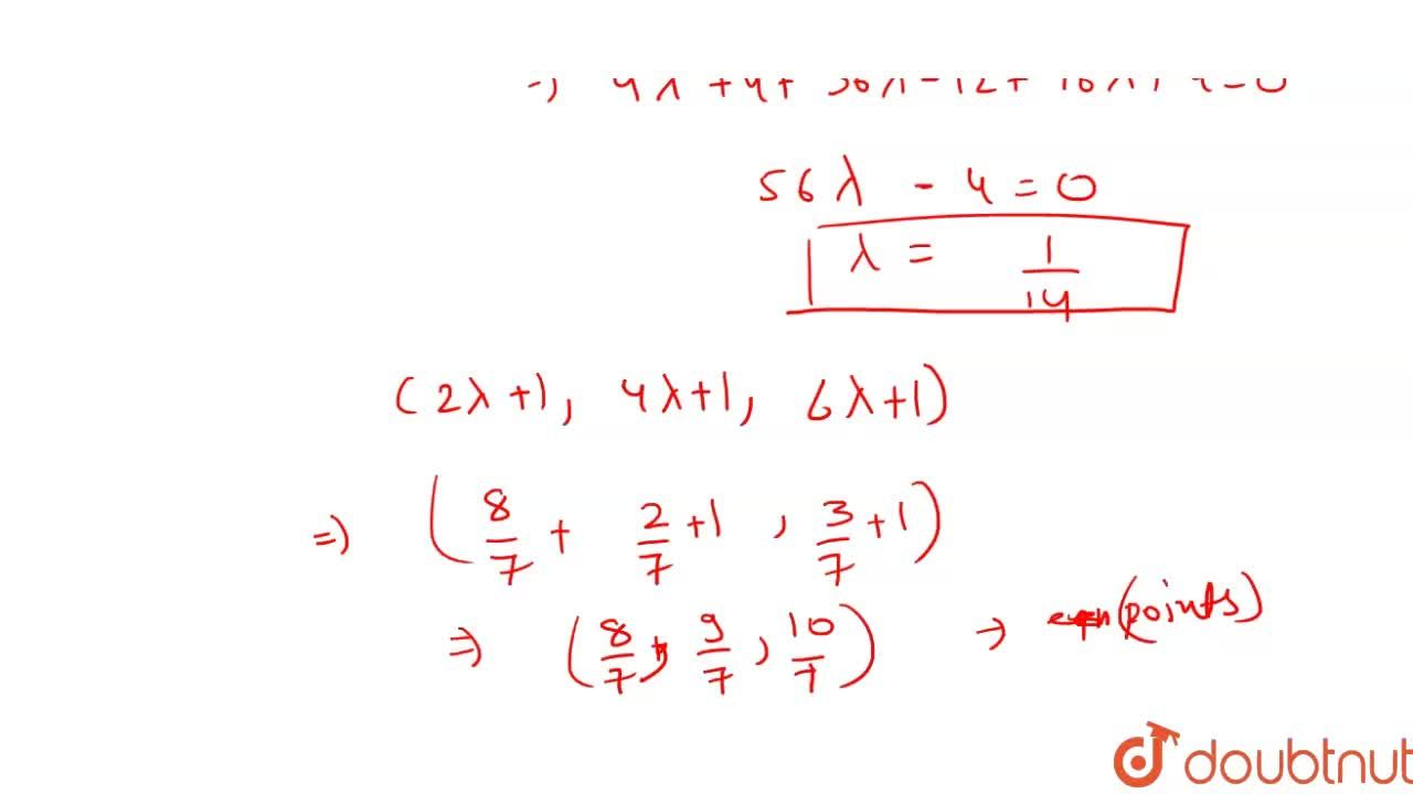Solution for Let A(1, 1, 1), B(3, 7, 4) and C (-1, 3, 0) be thr