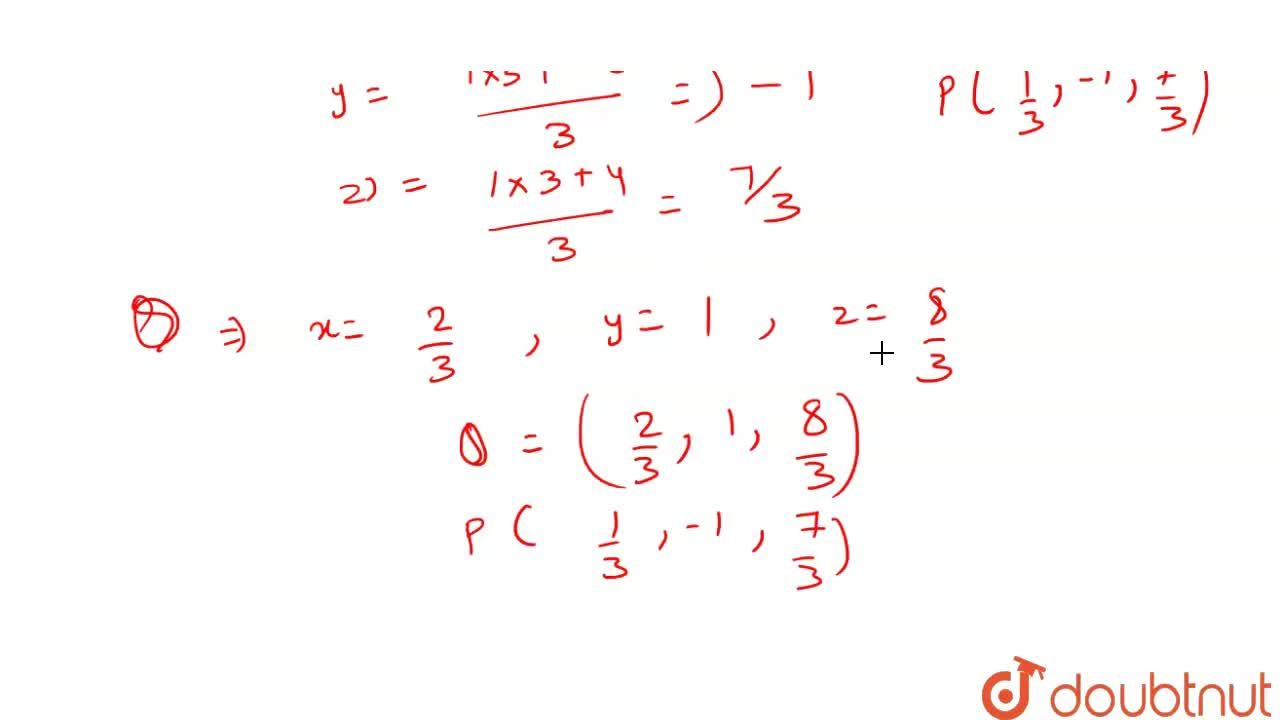 Solution for Find the coordinates of the points which trisect t