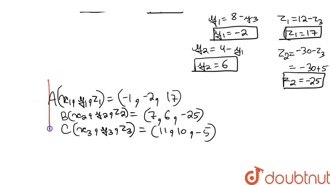 Solution for The mid-points of the sides of a triangle are give