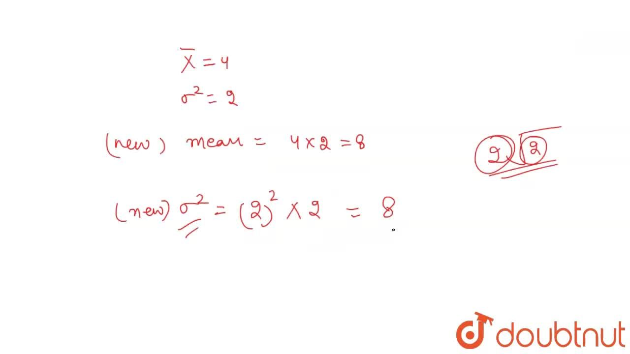 Solution for The mean and the variance 10 observations are give