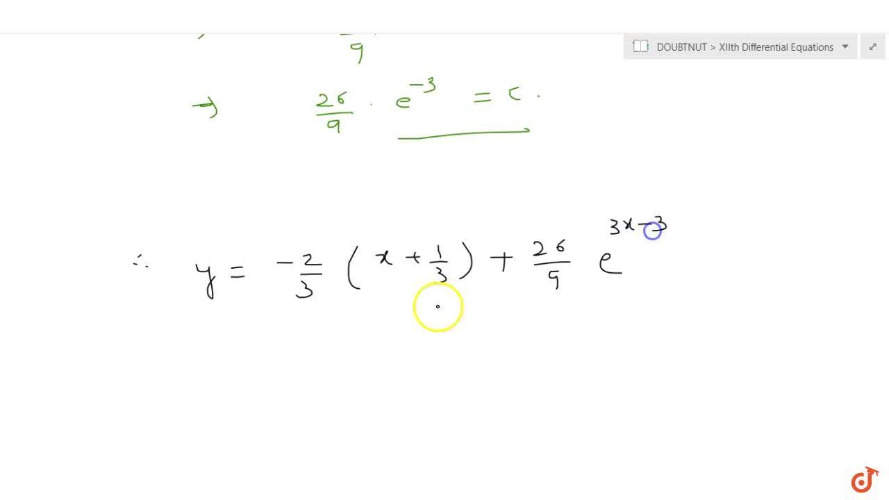 Solution for The tangent at any point (x , y) of a curve make