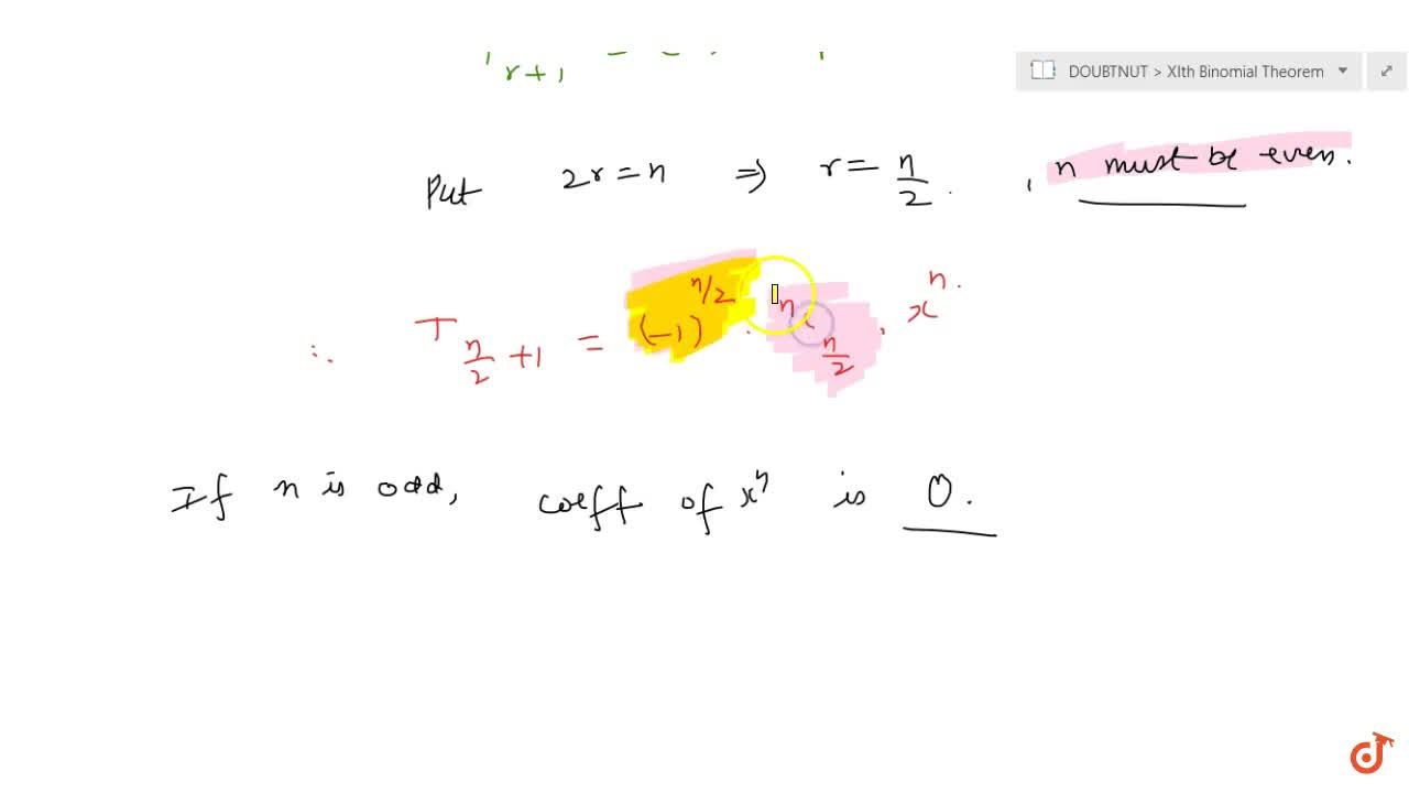 Solution for BINOMIAL THEOREM | USE OF COMPLEX NUMBERS IN BINOM