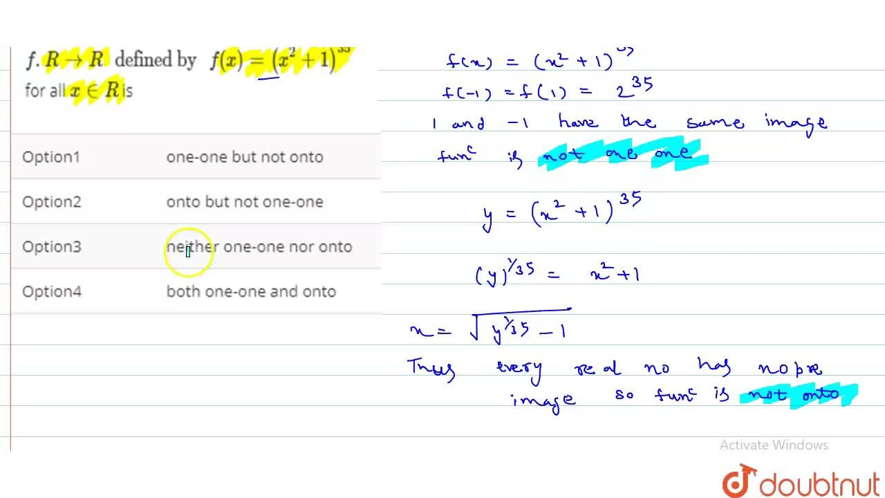 """Solution for The function f.RtoR"""" defined by """"f(x)=(x^(2)+1)^("""