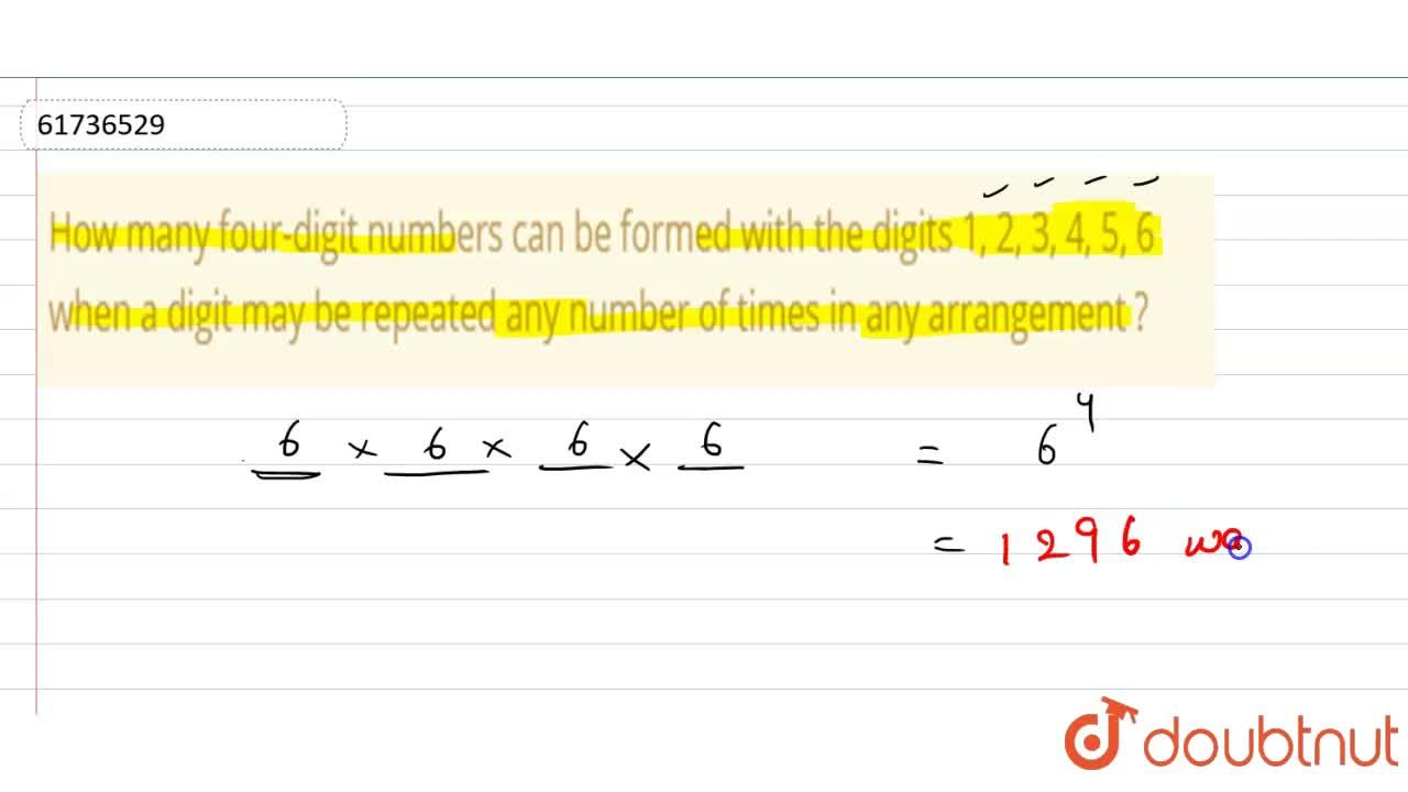 Solution for How many four-digit numbers can be formed with the