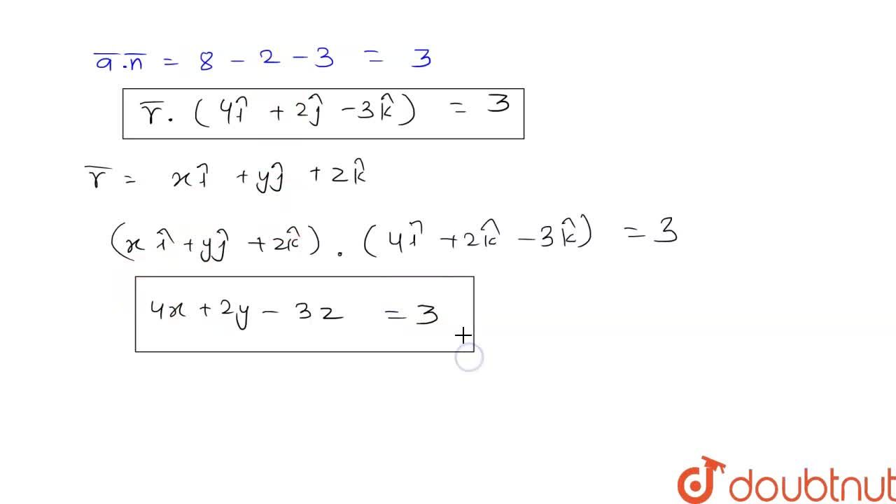 Solution for Find the vector equation of a plane passing throug