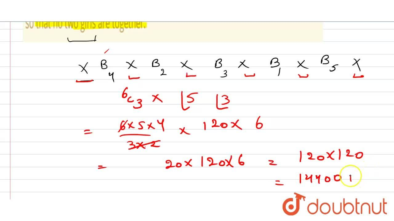 Solution for Find the number of ways in which 5 boys and 3 girl