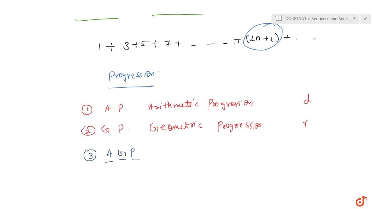 Solution for Representation of sequences and different types of