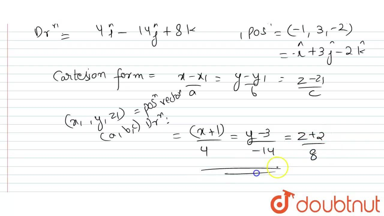 Solution for  Find the   equations of the  line passing   throu