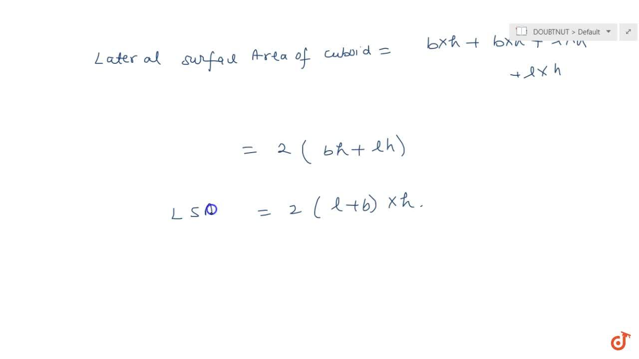 Solution for Lateral surface area of a cuboid