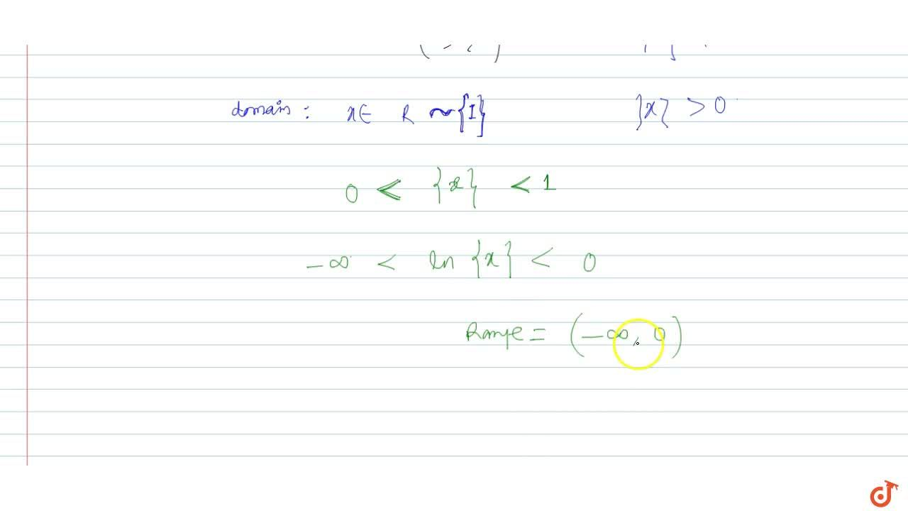 Solution for Find the range of the following function: f(x)=ln