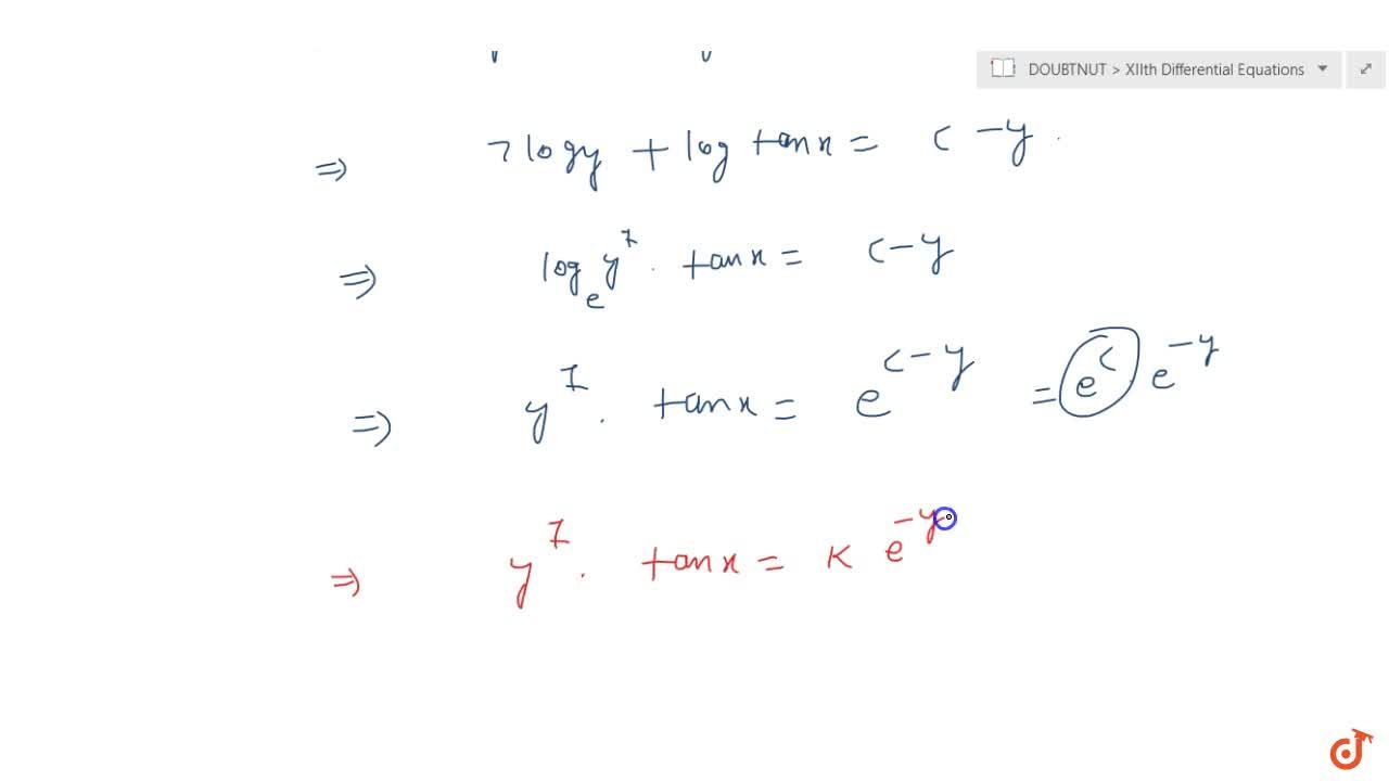 Solution for Solve the differential equation: y \ sec^2x+(y+7)