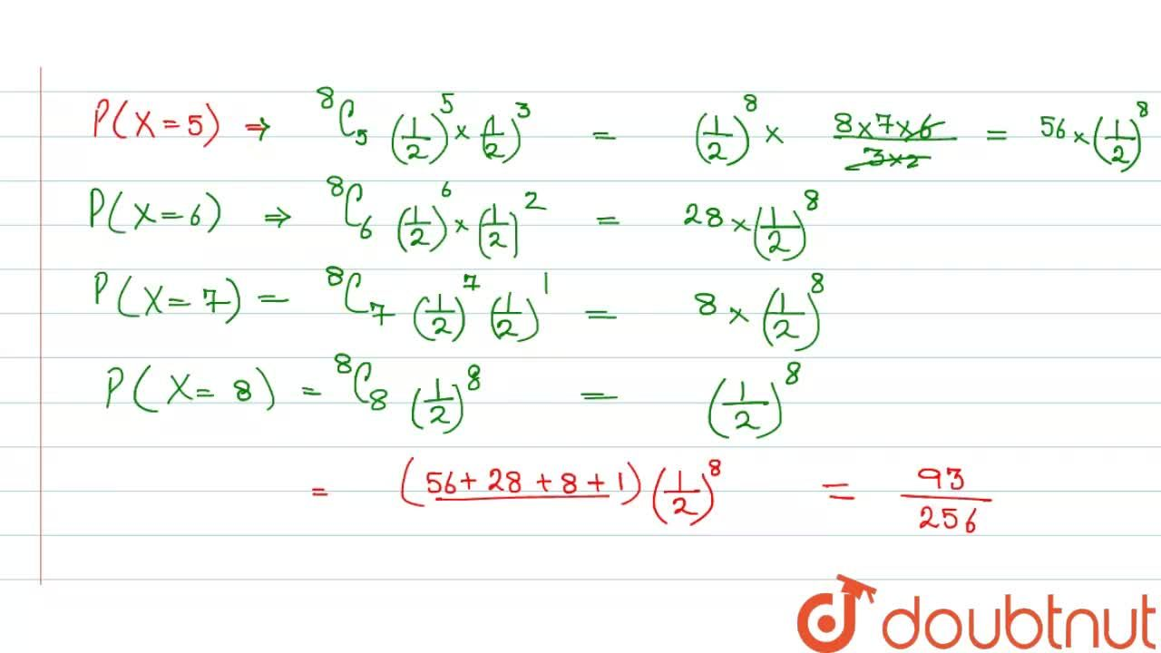 Solution for  If X  follow  a binomial  distribution  with  mea