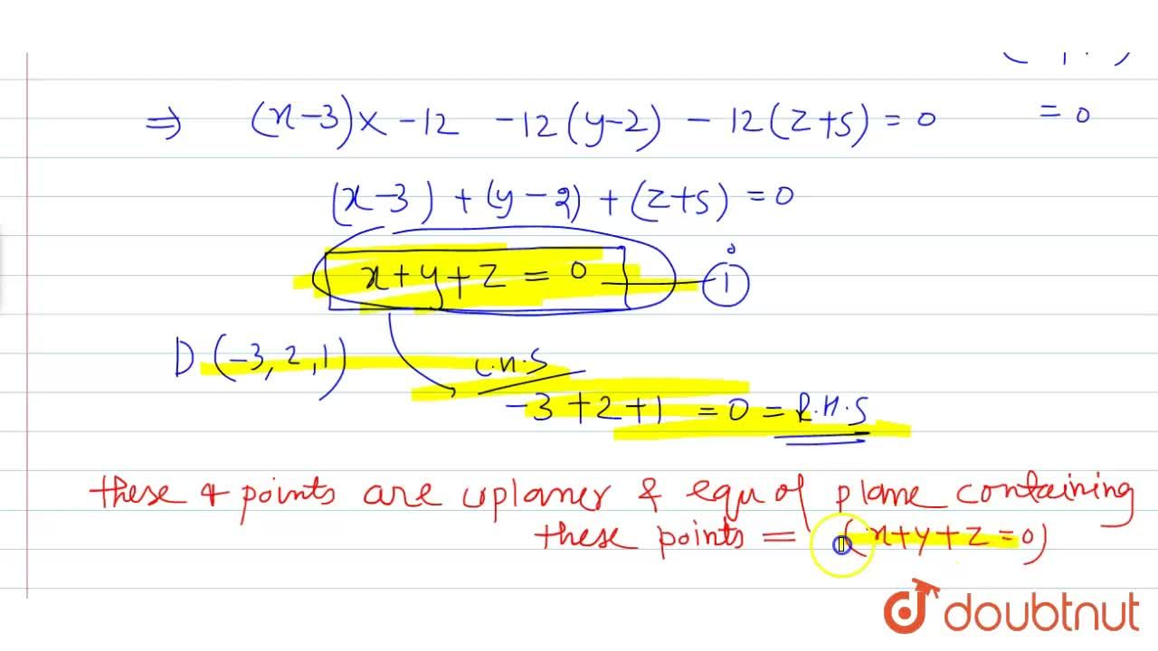 Solution for Show that the four points A(3,2,-5, B(-1,4,-3), C(
