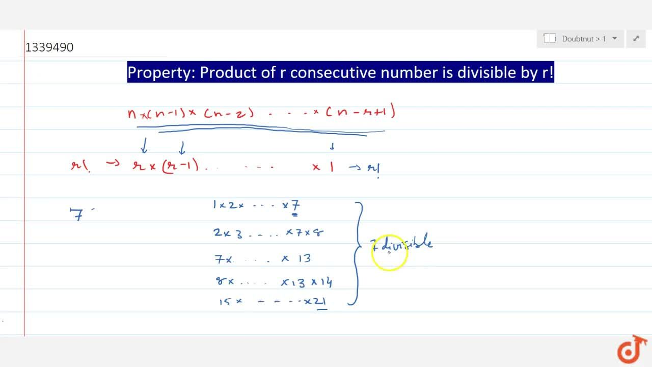 Solution for PERMUTATIONS AND COMBINATIONS | PERMUTATION UNDER