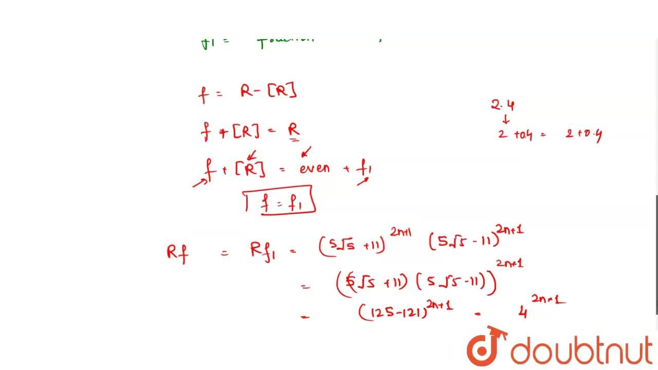 Solution for If  [x] denotes the greatest less than or equal to