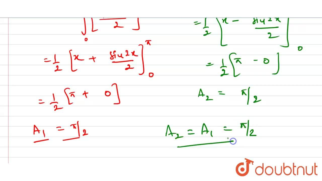 Solution for Compare the areas under the curves y=cos ^2 x and