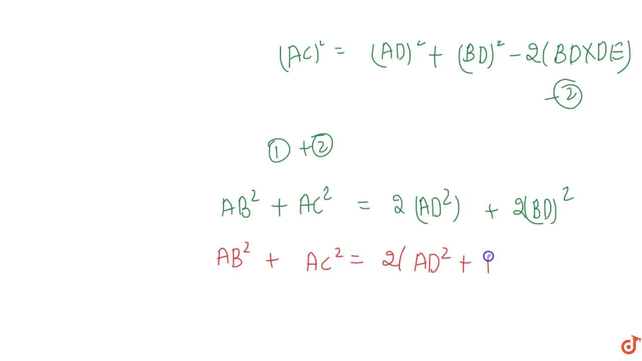 Solution for Prove that in any triangle; the sum ant the square