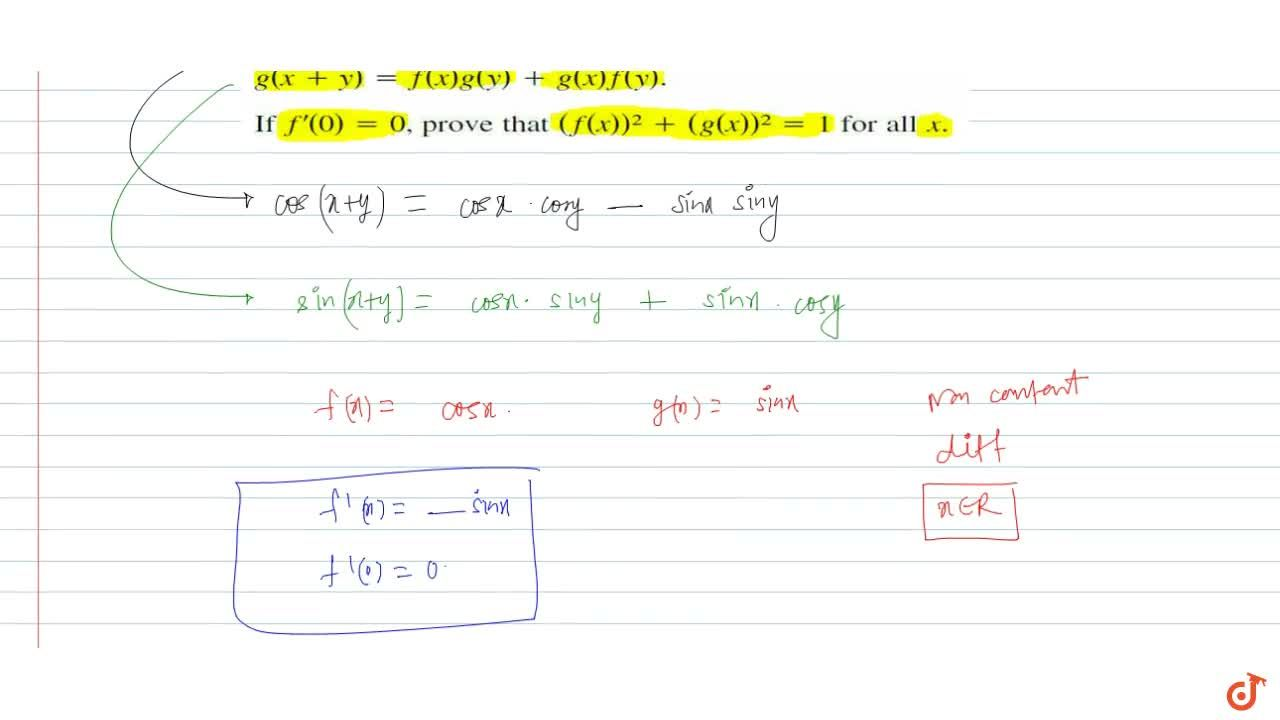 Solution for Suppose f and g are non-constant, differentiable,