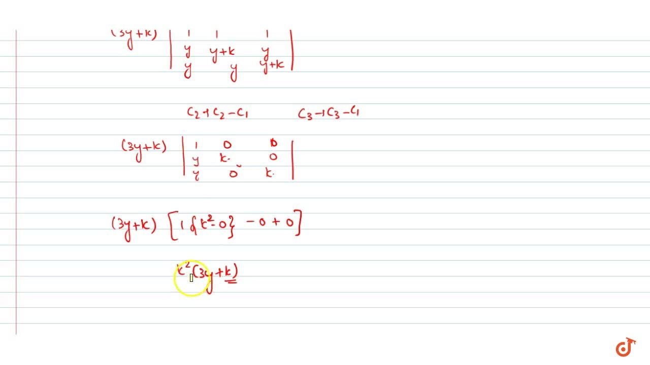 Solution for By using properties of determinants. Show that:<br