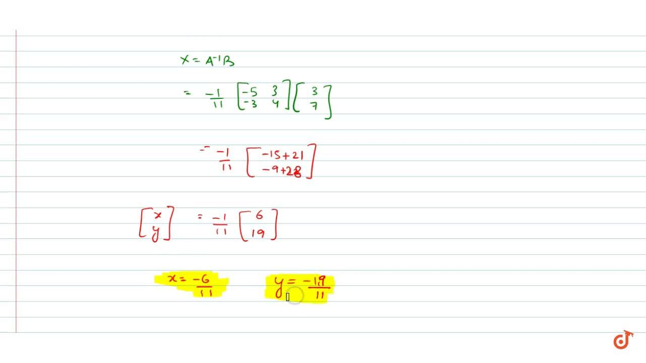 Solution for Solve system of linear equations, using matrix  me