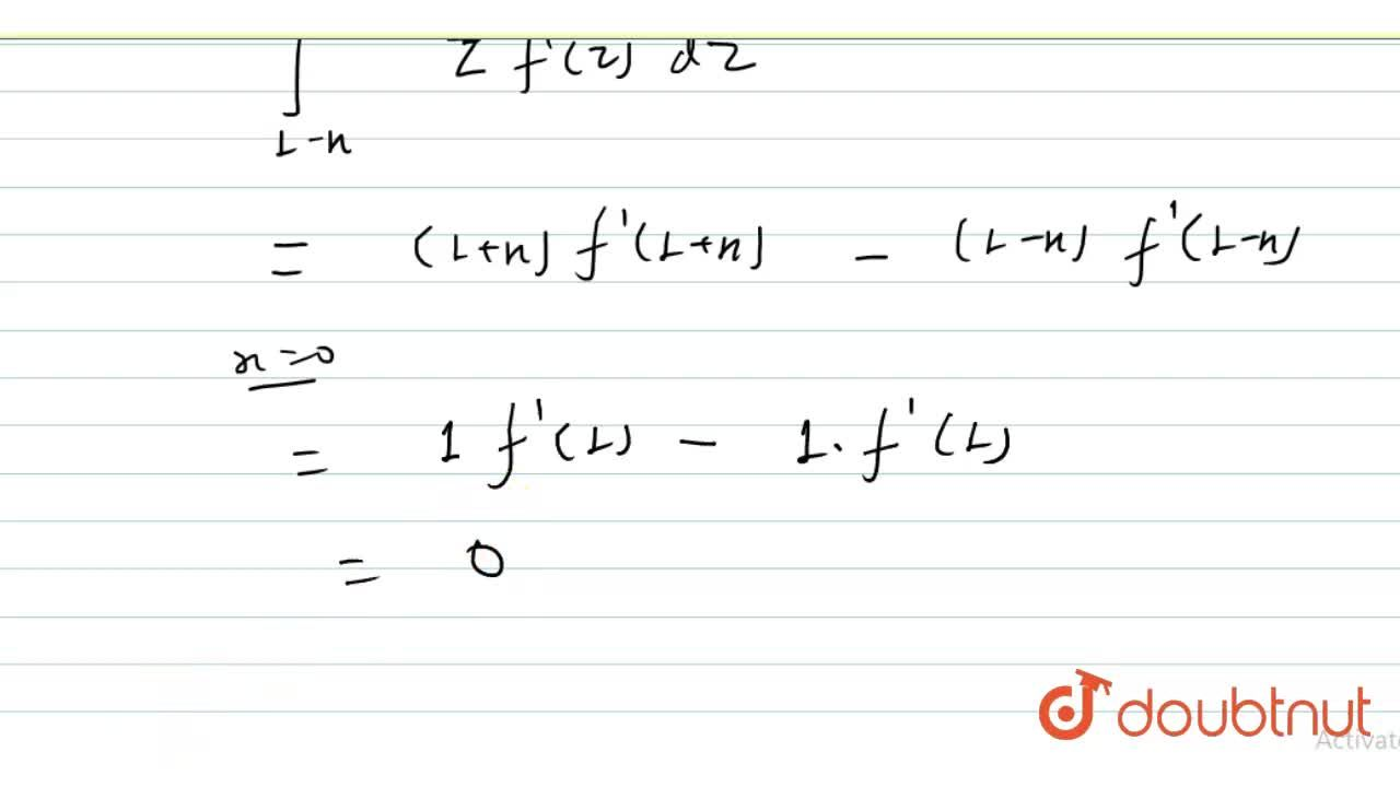 f is a real valued function from R to R such that f(x)+f(-x)=2, then int_(1-x)^(1+X)f^(-1)(t)dt=