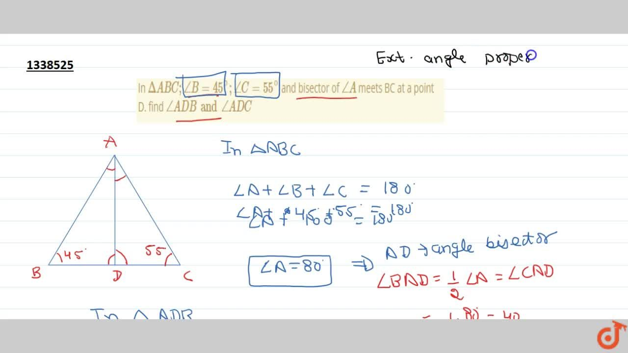 Solution for TRIANGLES   INTRODUCTION, PROPERTIES OF A TRIANGLE