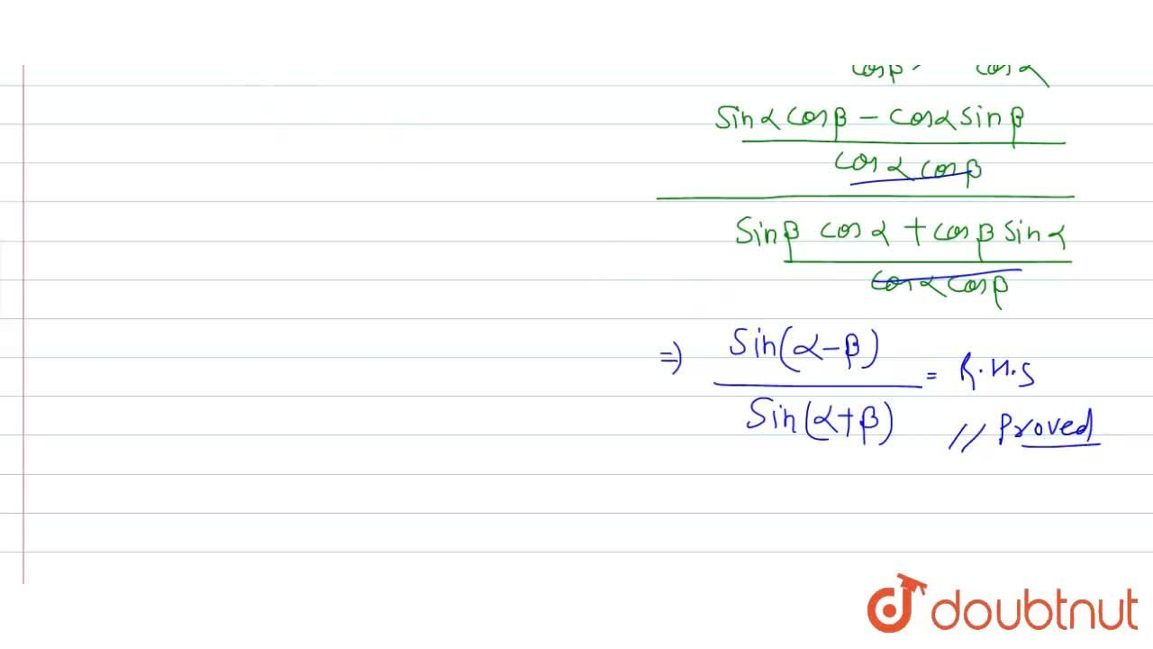 Solution for If tan beta=cos theta tan alpha, then prove that