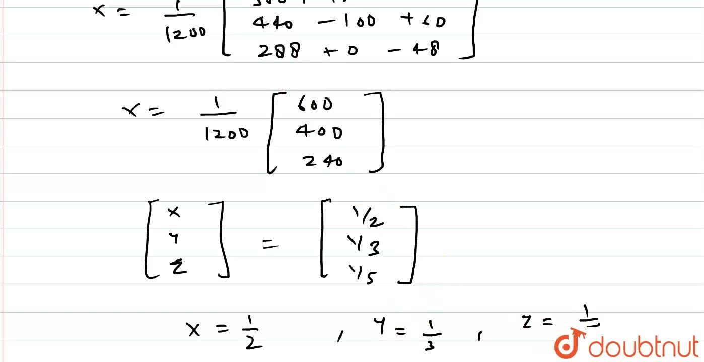Solution for निम्नलिखित रैखिक समीकरण निकाय <br> 2x+3y+10z=4 <br