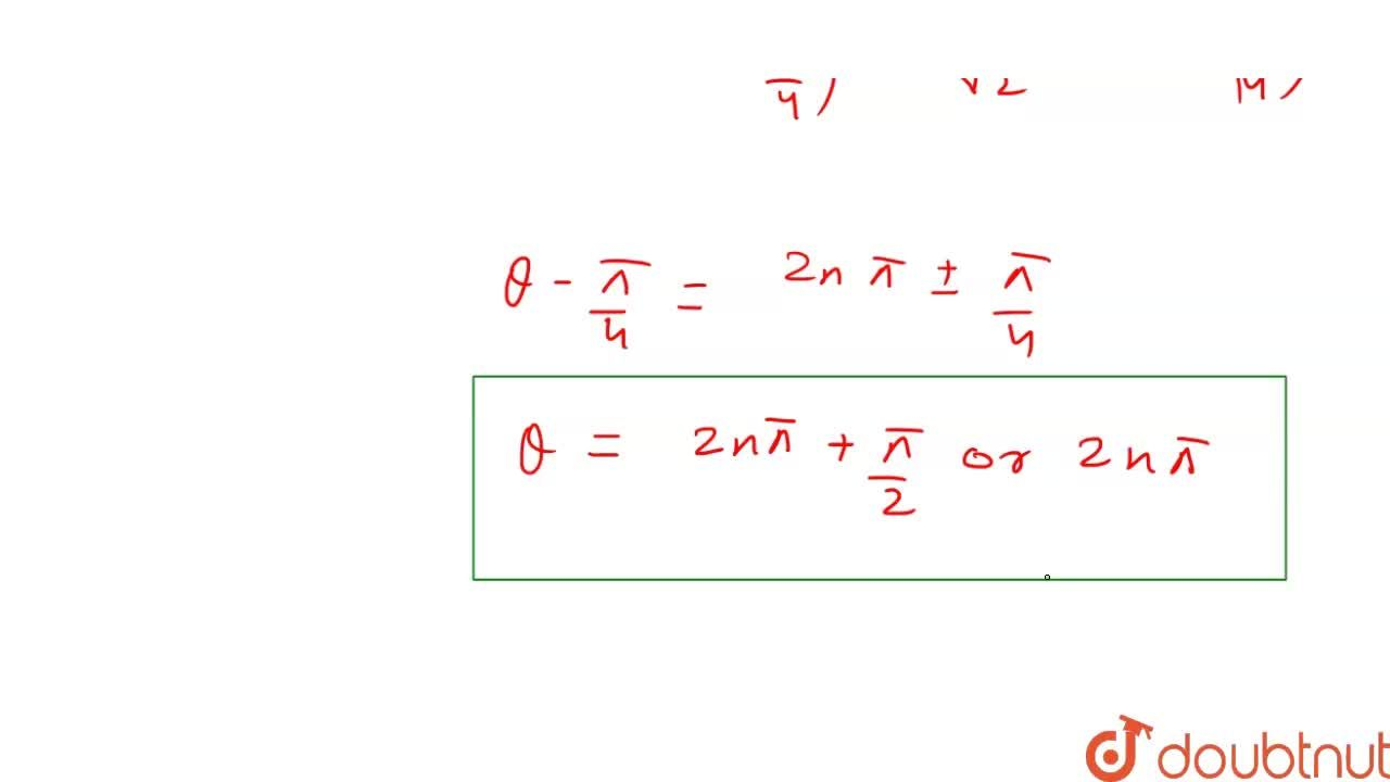 If sin^(3) theta+sin theta cos theta+ cos^(3) theta=1, then theta is equal to (n in Z)