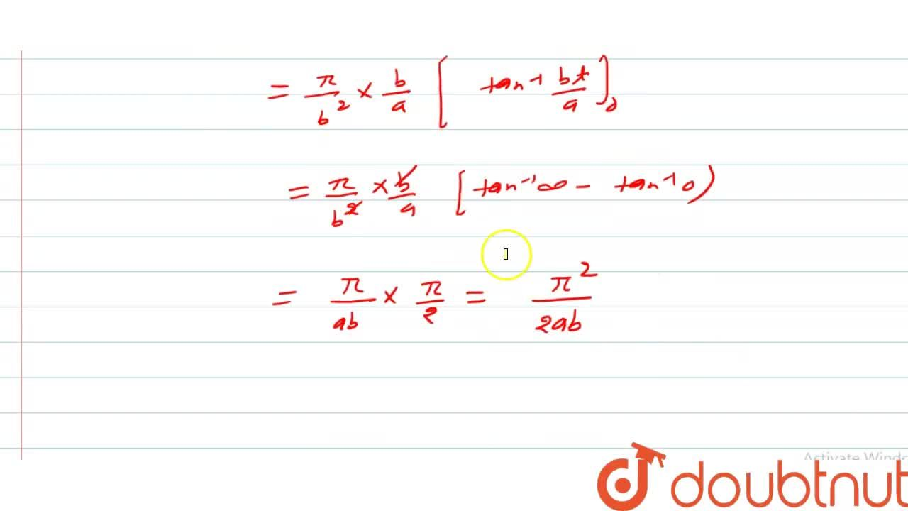 Solution for सिद्ध कीजिए कि underset(0)overset(pi)int (xdx),(a