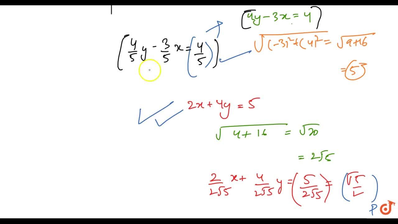 Reduce the lines 3x-4y+4=0\ a n d\ 2x+4y-5=0 to the normal form and hence find which line is nearer to the origin.