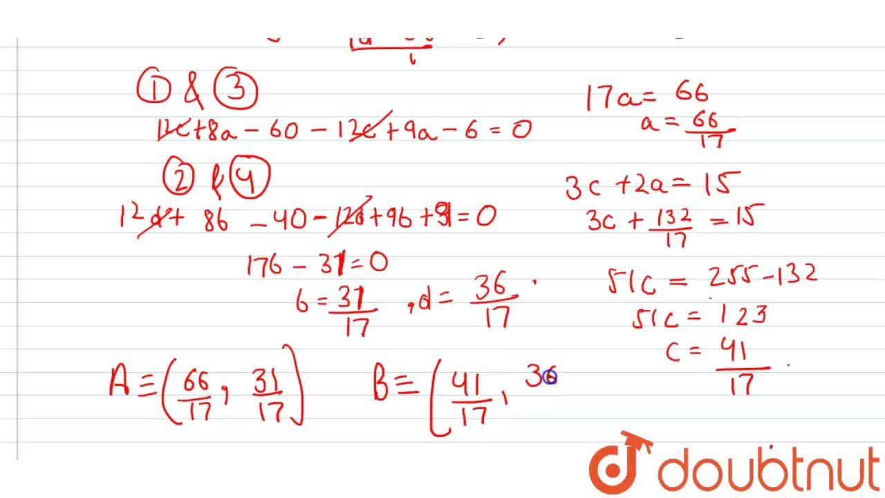Solution for If point P(3,2) divides the line segment AB inte